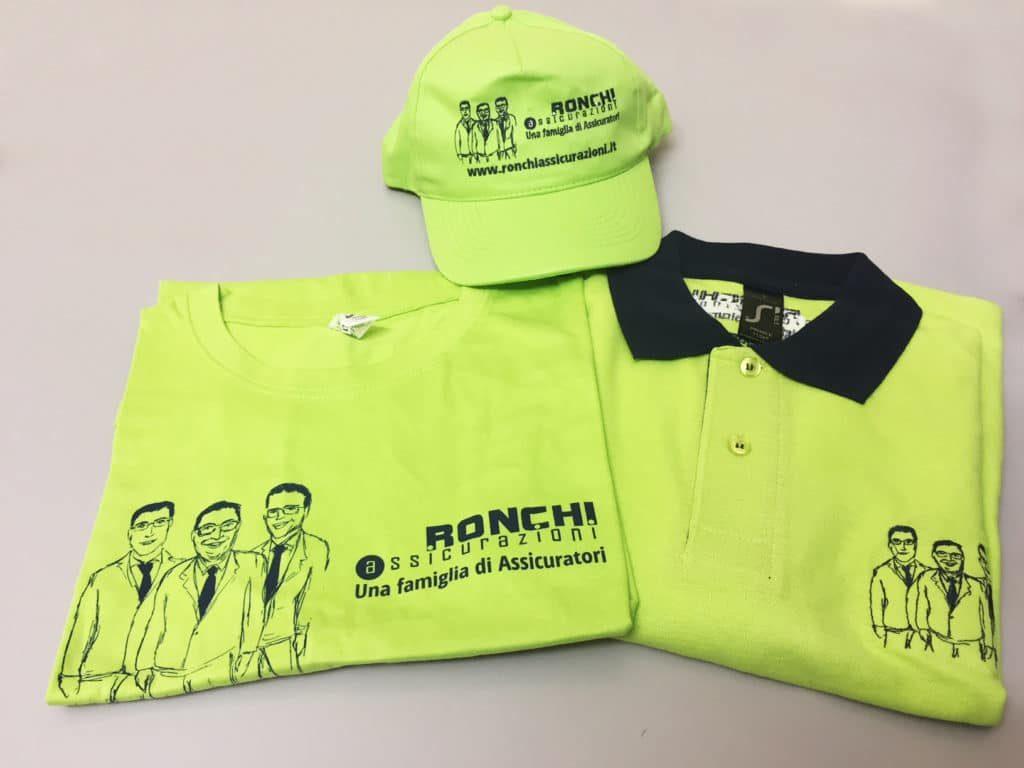 T-shirt polo cappello Ronchi Assicurazioni Milano